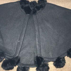 black fur short cloak